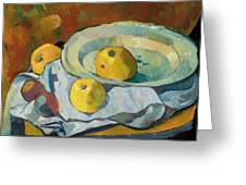 Plate Of Apples Greeting Card by Paul Serusier