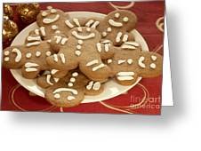 Plateful Of Gingerbread Cookies Greeting Card by Juli Scalzi