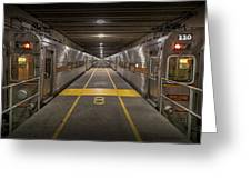 Platform Eight At Union Station Greeting Card