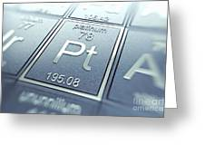 Platinum Chemical Element Greeting Card