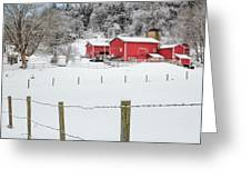 Platt Farm Square Greeting Card by Bill Wakeley