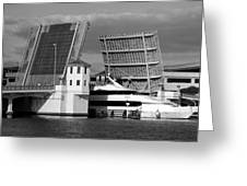 Platt Street Bridge Up Greeting Card