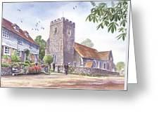 Plaxtol Church Wedding Greeting Card