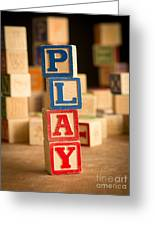Play - Alphabet Blocks Greeting Card