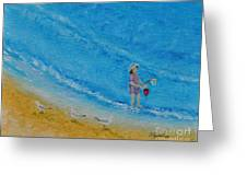 Play At The Beach Greeting Card