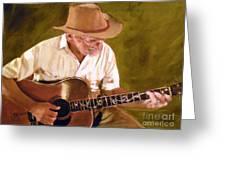 Play Guitar Play Greeting Card by Sharon Burger