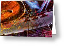 Play It Again Sam Digital Guitar And Banjo Art By Steven Langston Greeting Card by Steven Lebron Langston
