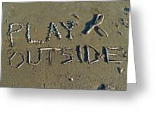 Play Outside Greeting Card