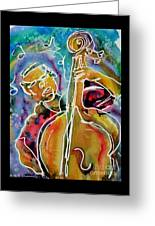 Play The Blues Bass Man Greeting Card
