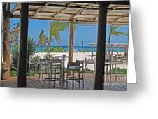 Playa Blanca Restaurant Bar Area Punta Cana Dominican Republic Greeting Card
