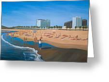 Playa De La Barceloneta Greeting Card