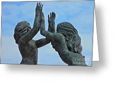 Playa Del Carmen Statue Greeting Card