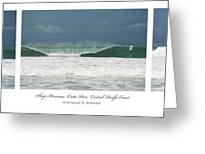 Playa Hermosa Wave Triptych Central Pacific Coast Costa Rica Greeting Card