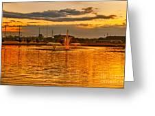 Playa Lake At Sunset Greeting Card