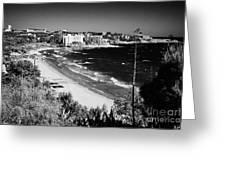 Playa Llarga And Cap De Salou Waterfront Properties On The Costa Dorada Catalonia Spain Greeting Card