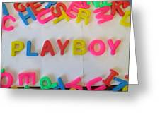 Playboy - Magnetic Letters Greeting Card