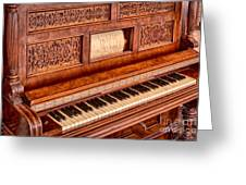 Piano Keys In The Key Of Life Greeting Card