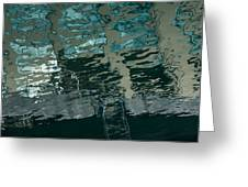 Playful Abstract Reflections Greeting Card