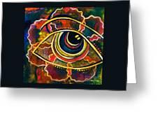 Playful Spirit Eye Greeting Card