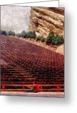 Playing At Red Rocks Greeting Card by Michelle Calkins