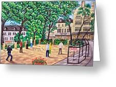 Playing Boules At Betty's Cafe- Harrogate Greeting Card