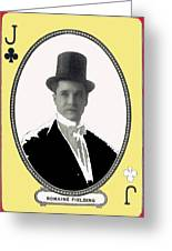 Playing Card Of Actor And Director Romain Fielding Unknown Date-2008 Greeting Card