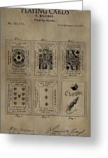 Playing Cards Patent Greeting Card