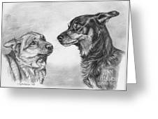 Playing Dog's Emotions Greeting Card