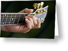 Playing Guitar Greeting Card