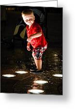 Playing In The Fountain Greeting Card