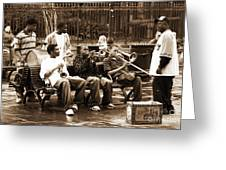 Playing Jazz In New Orleans Greeting Card