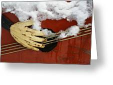 Playing The Cold Blues Greeting Card