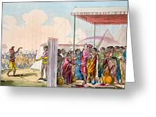 Playing The Hohlee, From The Costume Greeting Card