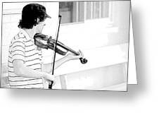 Playing Violin Greeting Card