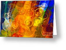 Playing With Bubbles Textured Abstract Artwork By Omaste Witkows Greeting Card by Omaste Witkowski