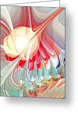Playing With Colors Greeting Card by Anastasiya Malakhova