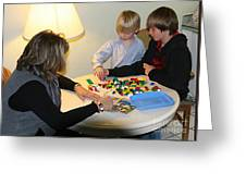 Playing With Legos Greeting Card