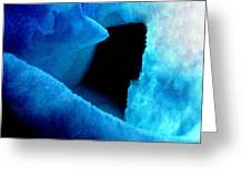 Playing With The Snow And Ice Kappl Mountain Austria  Greeting Card