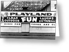 Playland At The Beach Greeting Card