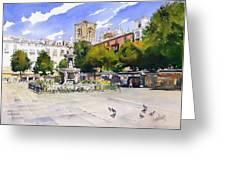 Plaza Bib Rambla Greeting Card