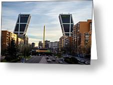 Plaza De Castilla Greeting Card