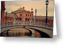 Plaza De Espana 10. Seville Greeting Card by Jenny Rainbow