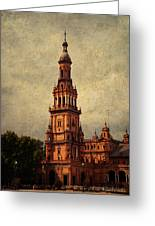 Plaza De Espana 2. Seville Greeting Card by Jenny Rainbow