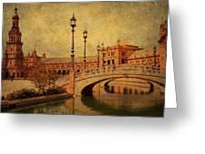 Plaza De Espana 9. Seville Greeting Card by Jenny Rainbow