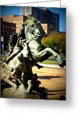 Plaza Horse Greeting Card