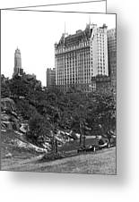 Plaza Hotel From Central Park Greeting Card
