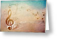 Please Dont Stop The Music Greeting Card by Angelina Vick
