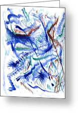 Plume Bleues Greeting Card