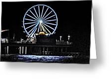 Pleasure Pier Ferris Wheel Greeting Card