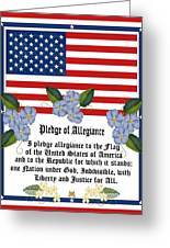Pledge Of Allegiance Greeting Card